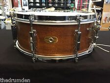 Vintage 1955-56 Leedy Mahogany Snare Drum 14 x 5 with Case, Stand, and Sticks