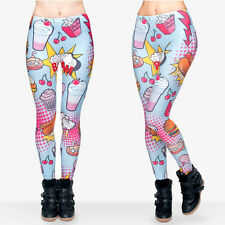 Fast food pop style soft leggings -  8 - 12 UK, hotdogs, milkshake, food