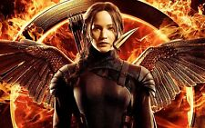 Jennifer-Lawrence-The-Hunger-Games-Mockingjay- Canvas Movie Poster 30x45cm Print