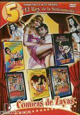 El Rey de la Sexy comedia 5 cómicas de  Alfoso Zayas New dvd