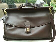 AUTH vtg coach briefcase laptop LEATHER BAG PURSE MESSENGER BOOKBAG #5266