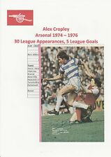 ALEX CROPLEY ARSENAL & DON MASON QPR ORIGINAL HAND SIGNED ANNUAL PICTURE CUTTING