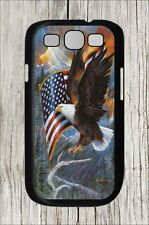 AMERICAN EAGLE AND FLAG #2 FOR SAMSUNG GALAXY S3 CASE COVER - hf76mu