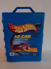 Cars HOTWHEELS Blue Hard Carrying Case Organizer Holds 48 Toy Cars Tara