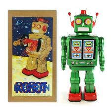 "TIN TOY ELECTRON ROBOT 12"" Green ME100 Battery Operated NIB Outer Space  Retro"