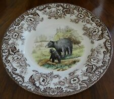 Spode Woodland S3422 Black Bear Dinner Plate Absolute Mint Condition