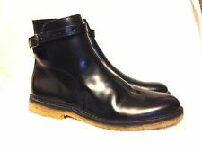 AMI Alexandre Mattiussi Black Leather Buckled Boots size 42 Portugal Excellent!