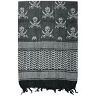 Shemagh-Tactical Scarf with Skull black&white