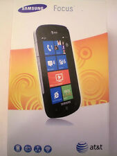 NEW SAMSUNG FOCUS i917 BLACK AT&T (UNLOCKED) WIFI, WINDOWS 7, TOUCH, SMARTPHONE