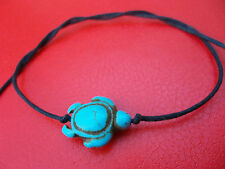 KARMASTRING cotton tie & leave on bracelet anklet turquoise turtle beach surfer