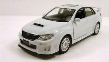 """RMZ city Subaru WRX STI Impreza 1:36 scale 5"""" diecast model car New White R06"""