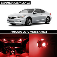 2003-2012 Honda Accord Red Interior LED Lights Package Kit