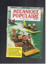 MECANIQUE POPULAIRE N°100  1954  hydroglisseurs sous marins peche