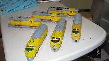 Vintage Athearn HO Band-drive Union Pacific F-7A's & GP-9 lot 5 powered 1 dum.NR