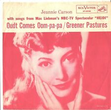 JEANNIE CARSON--TOUGH PICTURE LEEVE ONLT--(SONGS from HEIDI)---PS---PIC--SLV