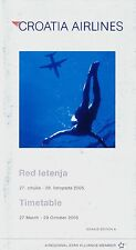 Croatia Airlines Timetable  March 27, 2005 =