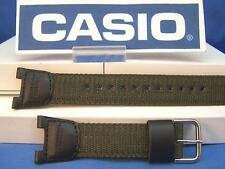 Casio Watch Band SGW-100 B-3.Compass Thermometer Black/Green.Two-Piece Strap