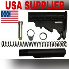 Mil Spec Extension Tube And Tactical Buttstock Kit 3oz Black