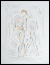 Simone Erni Les Amants Poster Bild Kunstdruck mit Alu Rahmen in schwarz 80x60cm