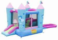Inflatable Residential Bounce House Water Slide Hoop Fairy Tale Princess Castle