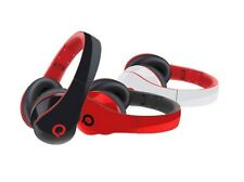 ICON Q Flare QH50 Foldable Bass Headphones +Built-in Mic +Detachable Cable (Red)