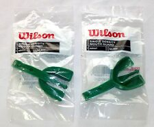 SET OF 2 WILSON MOUTH GUARDS Single Density Adult Size Green Latex-Free  NEW