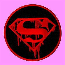 Superman Hero Logo Blood Comic Movie Cartoon Kids Embroidered Iron On Patch