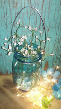 12 DIY Silver mason jar handles/ hangers Fairy lights not included WIDE mouth