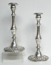 "EXQUISITE PAIR GORHAM STERLING SILVER 9 3/4"" TALL CHANTILLY CANDLESTICKS"