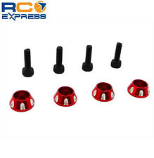Traxxas LaTrax Teton SST Rally Scale Red Aluminum Wheel Nuts LTN03X06