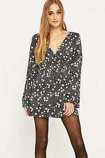 Urban Outfitters Pins & Needles Sleeved Floral Wrap Playsuit - Small RRP £46 New