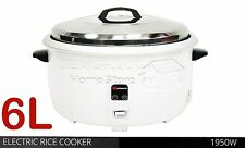 40 CUPS 6L LITRE NON STICK AUTOMATIC ELECTRIC RICE COOKER POT WARMER WARM COOK