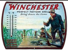 Winchester Rifle Ammo METAL SIGN Thermometer 13 BY 10  VINTAGE LOOKING