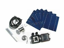 20pcs 6x6 Solar Cells Kit w/ Tabbing Bus Wire Flux Pen J-Box DIY 80W Solar Panel