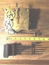 """""""Foreign"""" Clock Movement w/ Chimes For Parts/Repair  (See Video) (Clock Lot 600)"""