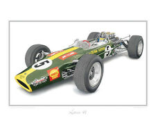 Lotus 49 Formula One Limited Edition Classic Car Print Poster by Steve Dunn