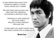 BRUCE LEE - LAMINATED A3 Poster - Motivation quotes - Philosophy- Martial arts