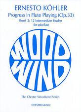Kohler progresos en Flauta Jugar Op. 33 clásica aprender Play Libro De Partituras 2