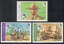 Gambia 1982 Baden Powell/Scouts/Scouting/Tree Planting/Leisure/People 3v n39971