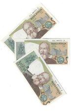 2000 LIRE GALILEO  baffi stevani 1976 3 biglietti consecutivi q.fds  LOTTO 1590