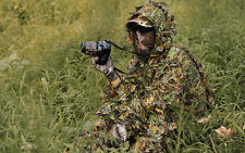 Camo 3D Fast Dry Jungle Leaf Quiet Realtree Ghillie Suit Jacket+Trousers