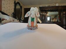 EASTER BUNNY LAYING ON TOP OF CLAY POT NWT