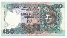 """MALAYSIA  RM50  JAFFAR HUSSEIN  TDLR  ZR_3874212  """"EF"""""""