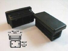 10 Lamellenstopfen für Kantrohr 30x15, WS 1,5-2 mm,  Gleiter