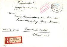 Französ. Zone - Notmaßnahme Gebühr bezahlt auf R- Brief v. Höhr - Grenzhausen