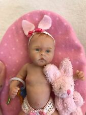 Ooak Full Sculpt Polymer Clay Baby Girl By Kellie Beckett