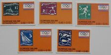 Netherlands Local mail - 5 stamps Olympics Amsterdam 1928-1988 Seoul imperf.