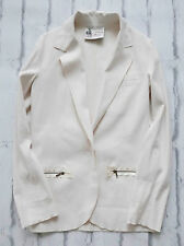 Laid Back Luxe: Lanvin Resort 2015 Oyster Ivory Stretch Linen Jacket IT38/UK6