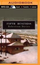 Deptford Trilogy Ser.: Fifth Business 1 by Robertson Davies (2015, MP3 CD,...