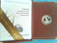 2016-W $5 American Eagle 1/10 oz. Gold Sp Coin Sold Out at Mint W Mint Packaging